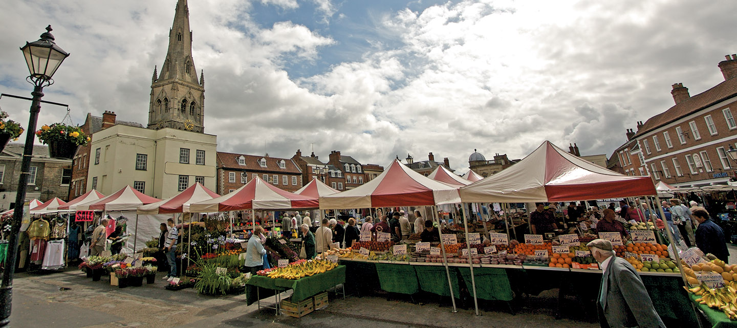 Newark-on-Trent marketplace, Nottinghamshire