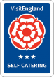 Visit England three star self catering award logo